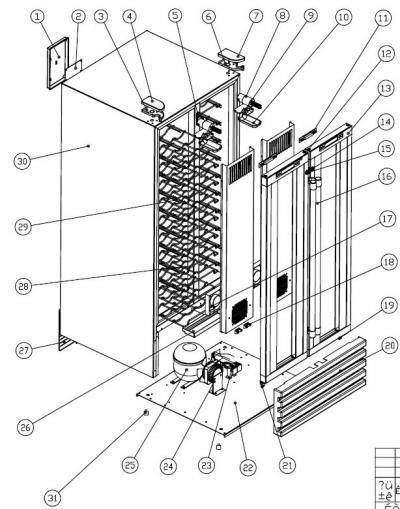 Franklin Chef FWC36 / FWC100 / HDC100 Ice Machine Parts