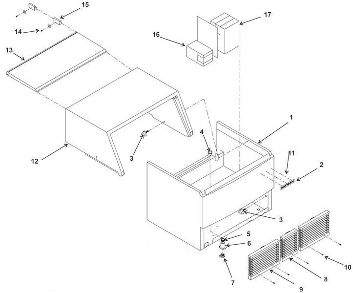 Uline Ice Maker Parts Diagram Frigidaire Gallery